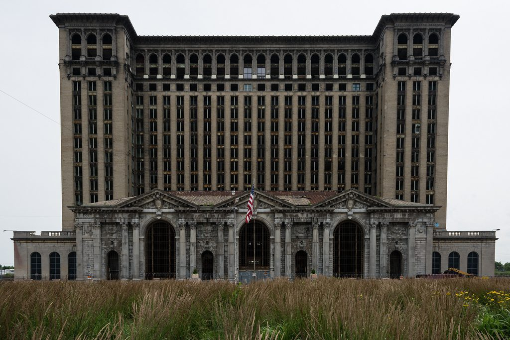 Detroit station ruined and abandoned